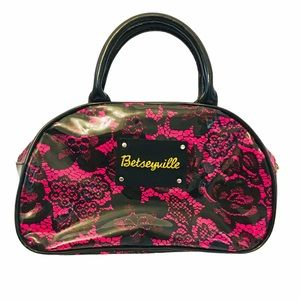 NWOT BETSEY JOHNSON Small Floral Lace Pattern Bag